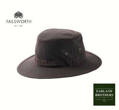 6f37c4aa8a7 FAILSWORTH BROWN WAX Cotton Hat Traveller Outback Fishing Outdoor ...