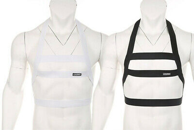 Mens Body Chest Harness Muscul Bondage Halter Neck Nightclub Party Sexy Costumes