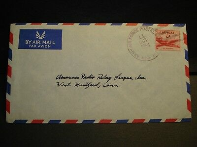 APO 241 HIGH WYCOMBE, UK 1954 Army Air Force Cover 485 COMM Sqdn