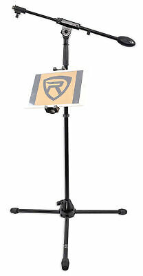 Samson BT4 Microphone Mic Stand w/ Boom+Tripod Base+Smartphone/Tablet/iPad Mount
