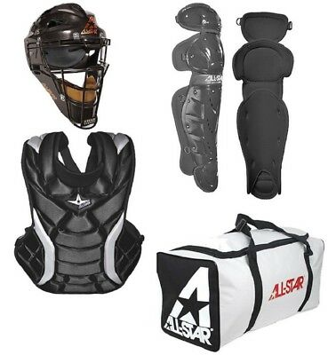 All-Star CKW13.5PS Player Series Black Youth Fastpitch Catchers Set Age 9-12