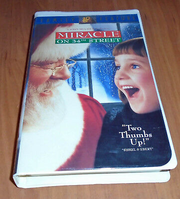 """Miracle on 34th Street"" VHS like new"