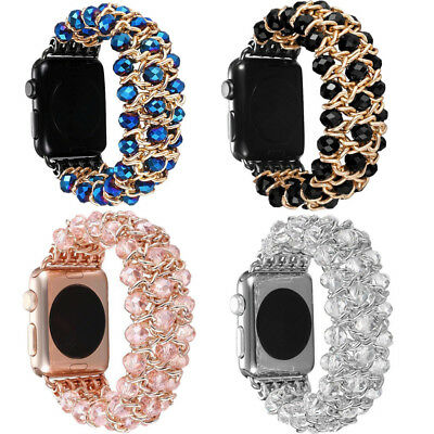 Watch Bling For iWatch 4/3/2/1 Pearl Beads Strap Bracelet Band 38-44mm