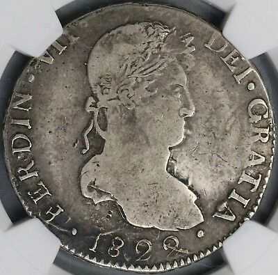 1822-D NGC VF 25 War Independence Durango 8 Reales Mexico Silver Coin (18072804C