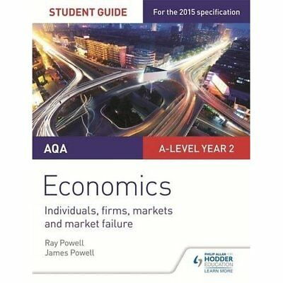 AQA A-level Economics Student Guide 3: Individuals, fir - Paperback NEW Ray Powe
