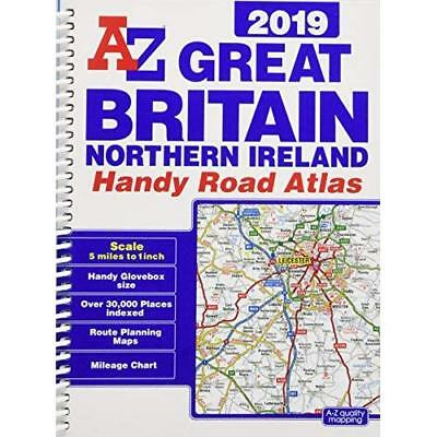 Great Britain Handy Road Atlas 2019 - Spiral Bound NEW  01/06/2018