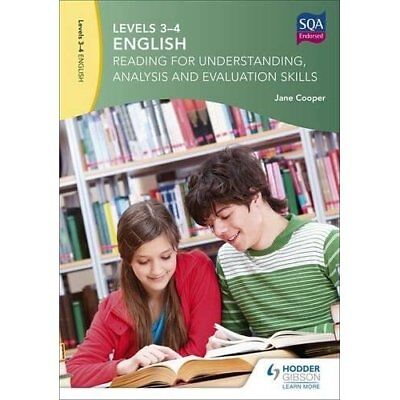 Levels 3-4 English: Reading for Understanding, Analysis - Paperback NEW Cooper,