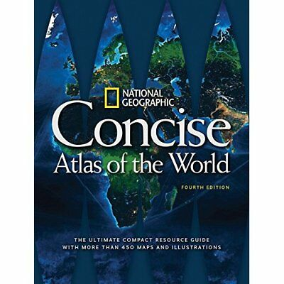 National Geographic Concise Atlas of the World, 4th Edi - Paperback NEW National