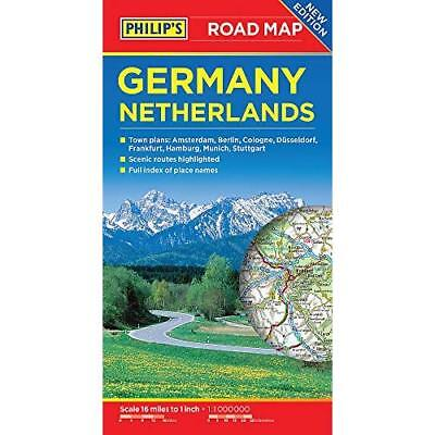 Philip's Germany and Netherlands Road Map - Paperback NEW Philips 09/03/2017