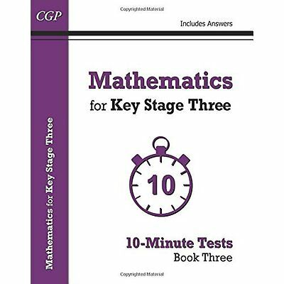 Mathematics for KS3: 10-Minute Tests - Book 3 (includin - Paperback NEW CGP Book