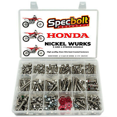 Honda CR Nickel Wurks Bolt Kit CR80 CR85 CR125 CR250 CR500 exceeds titanium look