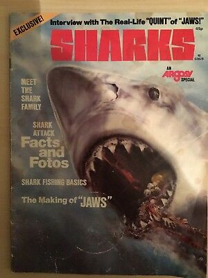 Sharks. An Argosy Special. Rare & Original Publication From 1975. The Jaws Year.