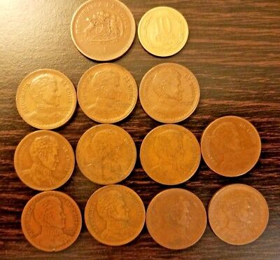 Rare Old Chile  Coin Collection