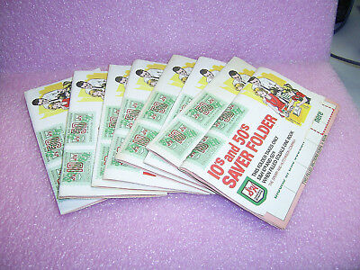 Lot 8 S&H GREEN STAMPS 10's AND 50's SAVER FOLDER FULL OF STAMPS (3,120 Stamps)
