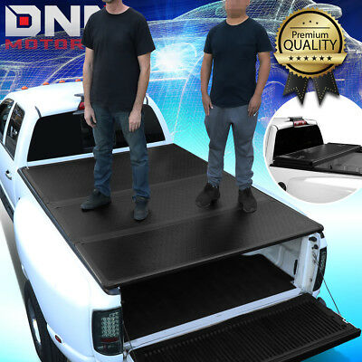 For 2009-2018 Ram 1500/2500 6.5Ft Short Bed Hard Solid Tri-Fold Tonneau Cover