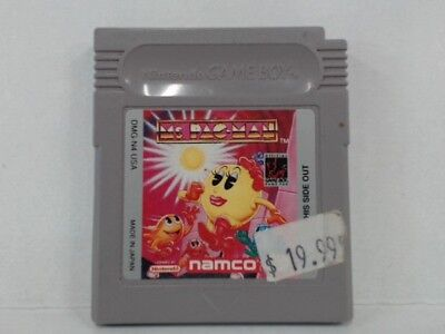MS. PAC-MAN Gameboy Color Stickers on Game