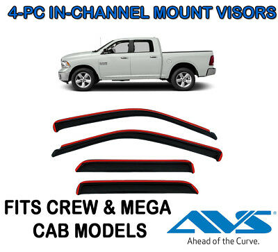 Auto Ventshade 194109 Ventvisor In-Channel 4Pc 2009-2015 Dodge Ram 1500 Crew Cab