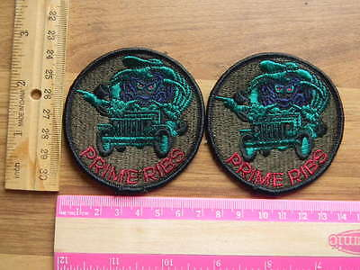 USAF PRIME RIBS Patch Set Air Force Civil Engineer subdued patch lot of 2