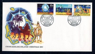 1980 Cocos Island Christmas  FDC