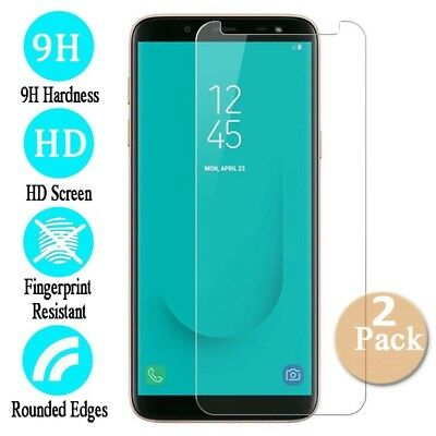 2X Tempered Glass Film Screen Protector For Samsung Galaxy J3 J5 J7 Pro J4 J6 J8