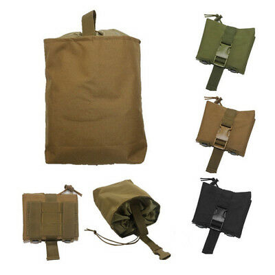 Tactical Utility Magazine Mag Drop Dump Pouch Molle Hunting Ammo Foldable Bag