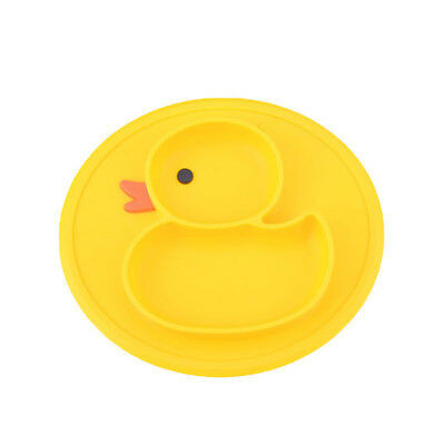 Baby Kids One-piece Duck Silicone Mat Food Dish Bowl Tray Table Placemat Eyeful