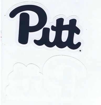 UNIVERSITY of PITTSBURGH PANTHERS PITT SCRIPT LOGO DECAL