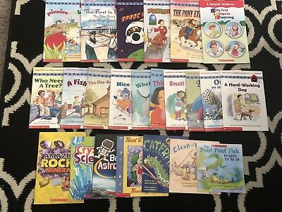 Lot of 29 - Level 1 to 3 - early readers learning scholastic children books