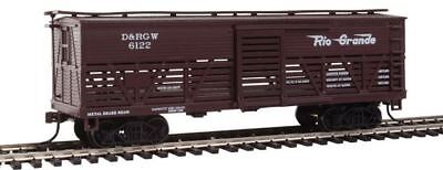 Con-Cor 1052091 HO Denver & Rio Grande Western Wood Stock Car (Old-Time Cattle)