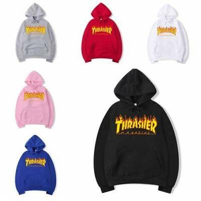 1X Men Women Hip-hop Hoodie Cotton Basic Skateboard Thrasher Sweatshirts Sweater