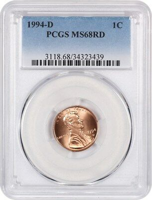 1994-D 1c PCGS MS68 RD - Lincoln Cent