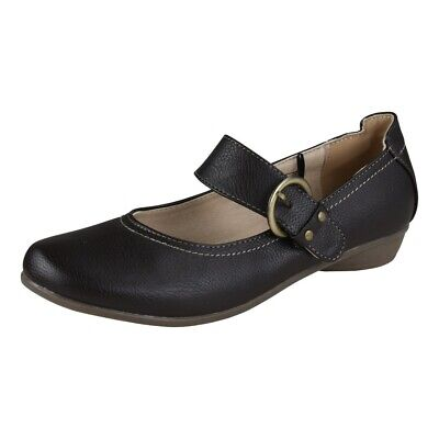 Lisanne Comfort Mujer Tacones Marrón Oscuro Riemchenschnalle
