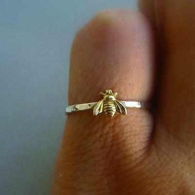 Best Gold Color Copper Bee Engagement Ring Women Rings Size 6 7 8 9 10 HF