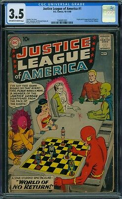 Justice League of America 1 CGC 3.5 - OW/W Pages