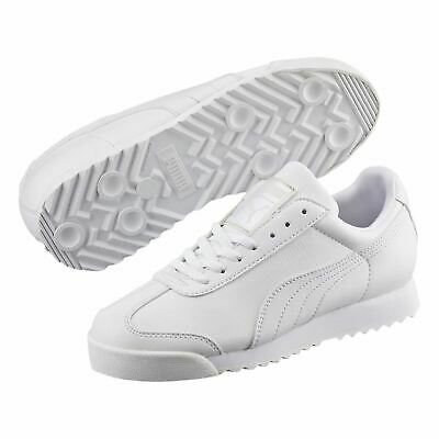 Puma Kids Boys Roma Basic Trainers Child Lace Up Sports Shoes Cushioned Insole