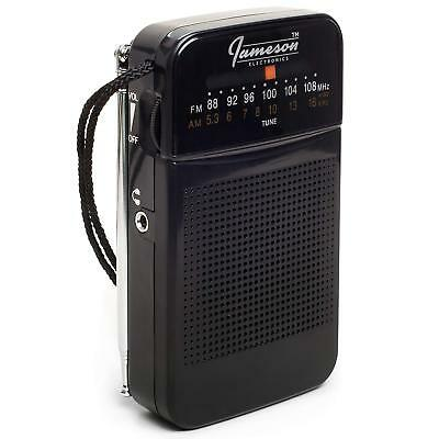 AM // FM Portable Pocket Radio Best Reception - Small Battery Operated Personal