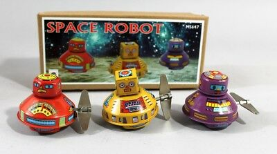 Blechspielzeug 3er Set Roboter-space-set Blech Weltraum science fiction wind up