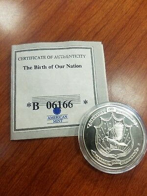 American Mint The Birth Of Our Nation Silver plated coin