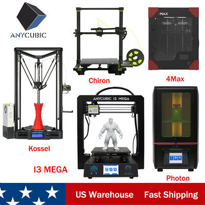 Professional ANYCUBIC 3D Printers LCD Photon /i3 Mega /Delta Kossel /FDM Chiron