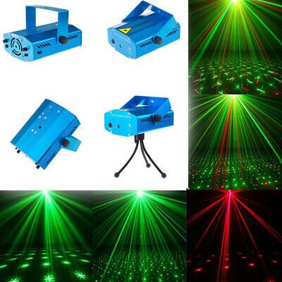 Mini LED Laser Projector Party Stage Strobe Red&Green Lighting DJ Disco XMAS