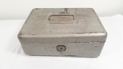 Vintage Master Steel Box w/ Coin Tray Lock Box