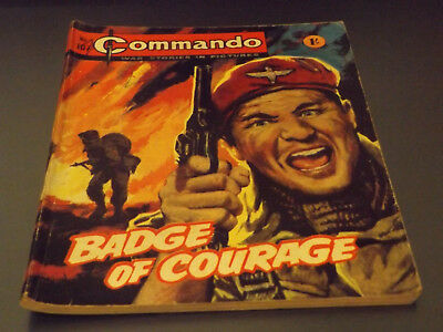 Commando War Comic Number 107 !,1964 Issue,good For Age,54 Years Old,v Rare.