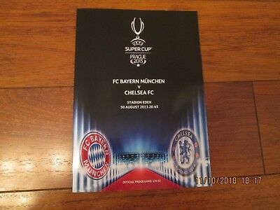 2013 SUPER CUP BAYERN MUNICH v CHELSEA (OFFICIAL & PIRATE ISSUES)