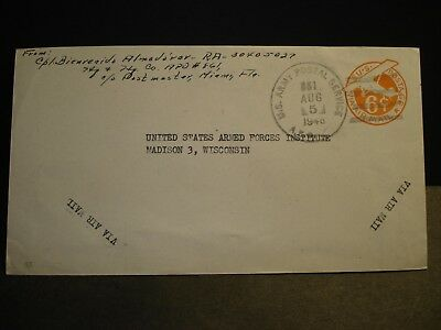 APO 861 FORT SIMONDS, JAMAICA, BWI 1946 Army Cover Soldier's Mail