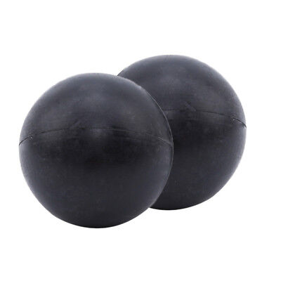 2pcs Black Rubber Bounce - No Bounce Balls Magic Trick Props Accessories Z