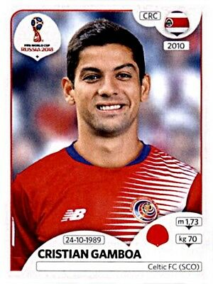 PANINI STICKERS FOOTBALL coupe du monde 2018 RUSSIA Nº 409 JOEL CAMPBELL CRC image NEUF