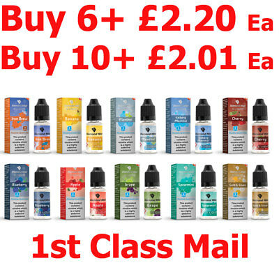Diamond Mist UK E Liquid Vape Juice Ecig 10ml 50/50 70/30 VG/PG 0 3 6 12 & 18mg
