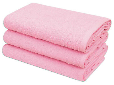 Pink Terry Toweling Premium Quality Cotton Nappies 60 x 60 cm 12 Per Pack