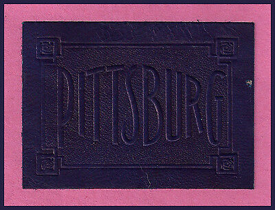 VINTAGE 1908 OLD University of Pittsburgh Panthers Tobacco Leather! RARE!
