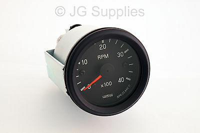 Tachometer 0-4000 RPM 52mm W input terminal Alternator or ignition coil Rev